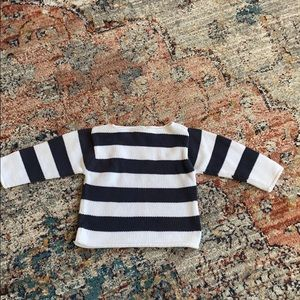 Baby gap adorable sweater.Navy blue & white stripe